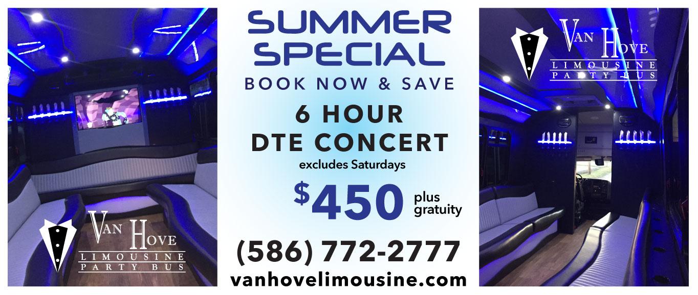 6 Hour DTE Concert $450 plu gratuity