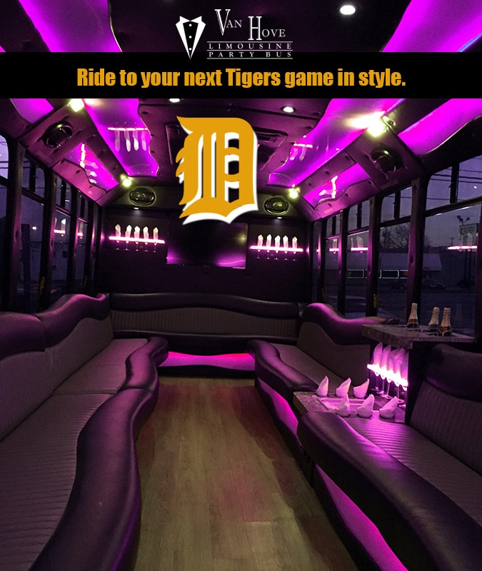 Tiger's Opening Day Party Bus Rental