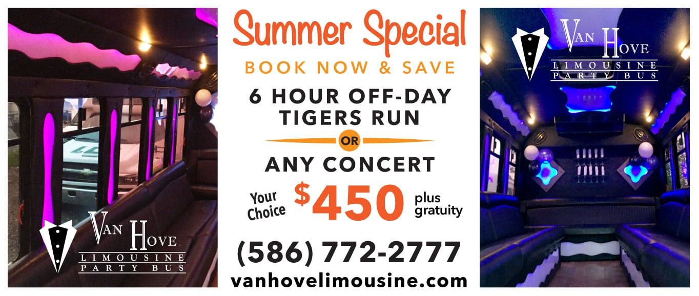 Van Hove Limousine Summer Specials