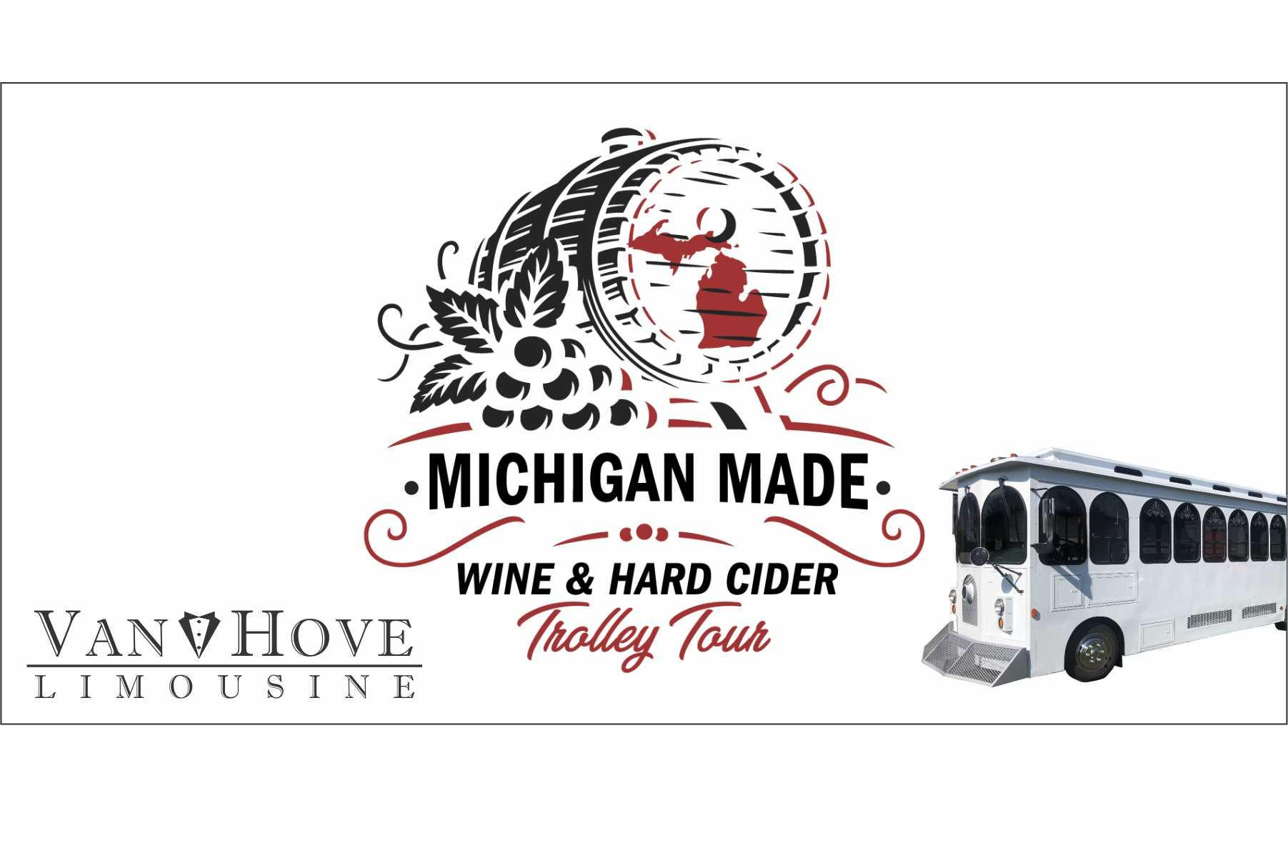 Michigan Made Wine and hard cider trolley tour